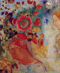Odilon Redon - Two Young Girls among Flowers