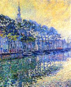 Theo Van Rysselberghe - Veere (Holland): October Mists
