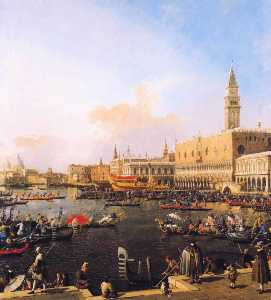 Giovanni Antonio Canal (Canaletto) - Venice, Bacino di San Marco on Ascension Day