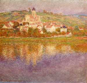 Claude Monet - Vetheuil at Sunset