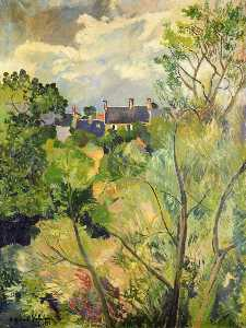 Suzanne Valadon - View from My Window in Genets (Brittany)