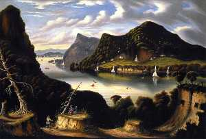 Thomas Chambers - View of Cold Spring and Mount Taurus from Fort Putnam