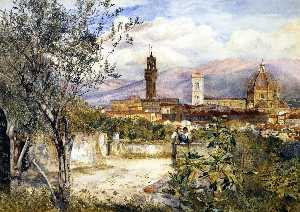 Henry Roderick Newman - View of the Duomo fro the..
