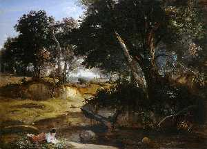 Jean Baptiste Camille Corot - View of the Forest of Fontainebleau