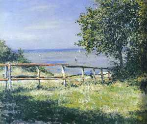 Gustave Caillebotte - View of the Sea at Trouvi..