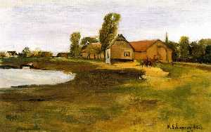 Max Liebermann - Village Street in MIlitsh..