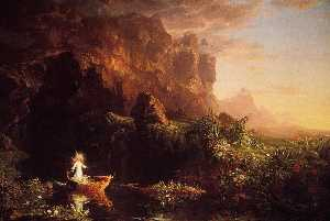 Thomas Cole - The Voyage of Life: Child..