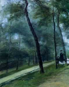Pierre-Auguste Renoir - A Walk in the Woods (also known as Madame Lecoeur and Her Children)