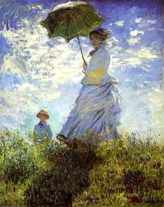 Claude Monet - The Walk, Woman with a Parasol
