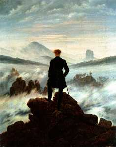 Caspar David Friedrich - Wanderer above the Sea of..