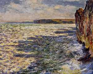 Claude Monet - Waves and Rocks at Pourville