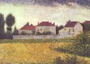 Georges Pierre Seurat - White Houses, Ville d-Avray