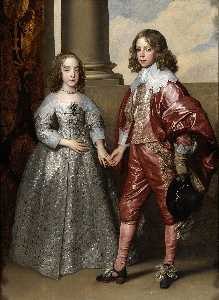 Anthony Van Dyck - William II, Prince of Orange and Princess Henrietta Mary Stuart, daughter of Charles I of England