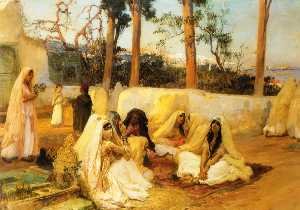Frederick Arthur Bridgman - Women at the Cemetery