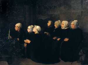 Alphonse Legros - Women in Prayer