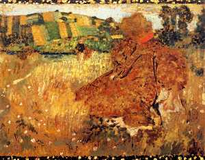 Jean Edouard Vuillard - Woman in the Countryside