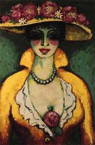 Kees Van Dongen (Cornelis Theodorus Maria Van Dongen) - Woman with Flowered Hat