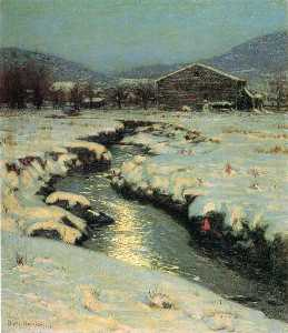 Lowell Birge Harrison - Woodstock Meadows in Wint..