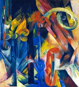 Franz Marc - Wood with Squirrel (also known as Wood)