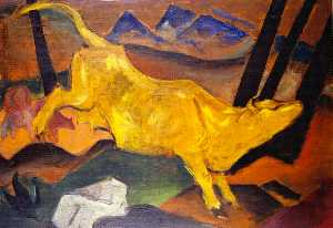 Franz Marc - The Yellow Cow (sketch)