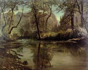 Albert Bierstadt - Yosemite Valley, Californ..
