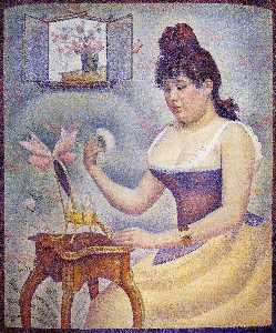 Georges Pierre Seurat - Young Woman Powdering Her..