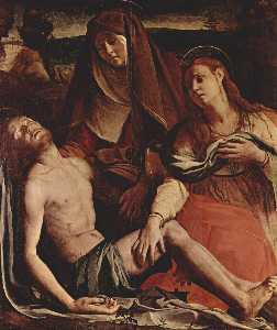 Agnolo Bronzino - The Dead Christ with the Virgin and St. Mary Magdalene