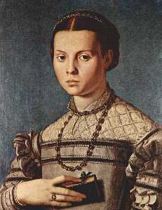 Agnolo Bronzino - Portrait of a girl with book