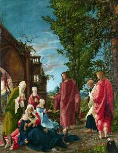 Albrecht Altdorfer - Christ taking Leave of hi..