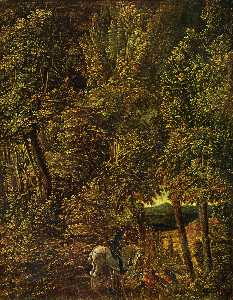 Albrecht Altdorfer - Countryside of wood with ..