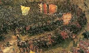 Albrecht Altdorfer - The battle of Issus(fragment) (9)