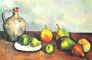 Paul Cezanne - Still life, pitcher and fruit