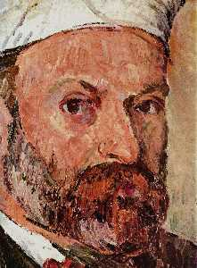 Paul Cezanne - Self-portrait with white turbaned (detail)