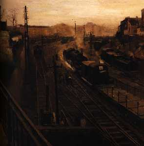 Paul Delvaux - For the Brussels Luxembourg Station