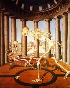 Paul Delvaux - The skeleton has the shell