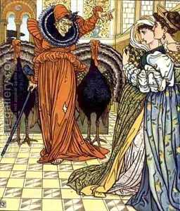 Walter Crane - Illustration From The Yel..