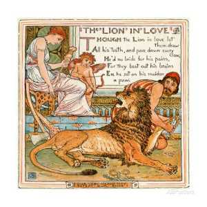 Walter Crane - The Lion In Love