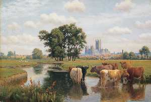 William Sidney Cooper - Canterbury Cathedral From..