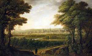 Augustus Wall Callcott - An Extensive View Of Oxford From Elsfield