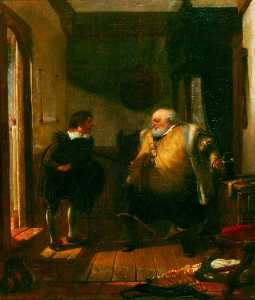 Augustus Wall Callcott - Falstaff And Simple