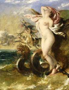 William Etty - Andromeda, Perseus Coming To Her Rescue