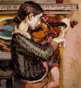 Duncan Grant - Angelica Playing The Viol..