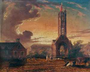 Thomas Baines - Greyfriars Tower, Norfolk -