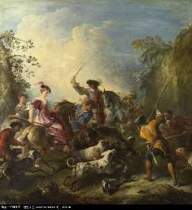 Joseph Parrocel - The Boar Hunt
