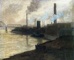 Aaron Harry Gorson - Industrial Scene - Mills On The Monongahela