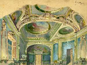 Adolf Hohenstein - Set Design For Act 2 Of P..