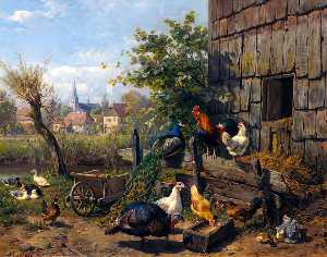 Carl Jutz - The Farmyard
