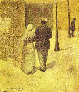 Charles Angrand - Man And Woman In The Stre..