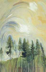Emily Carr - Young Pines And Sky