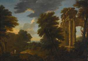 George Lambert - Landscape With Ruins